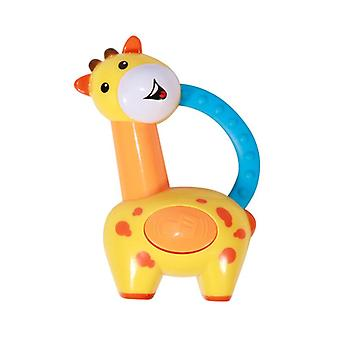 Baby rattle and griffin giraffe with padded handle in colorful from 3 months