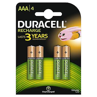 Duracell 750mAh AAA Size Rechargeable Accu Batteries Various Quantities