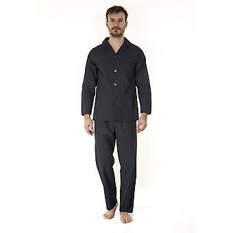 Haigman Mens 100% Cotton Long Pyjama Lounge Wear - Dots - Small