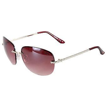 Suuna Elegance Oval Rimless Sunglasses - Silver