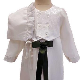 Dopklänning Med Väst Och Dophätta - Grön Rosett. Grace Of Sweden