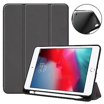 Für iPad mini 5 (2019) Fall, Smart PU Leder + TPU stoßfest Folio Cover, schwarz