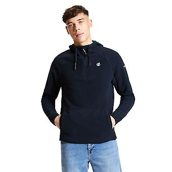Durf 2b Mens Forgo Polyester Half Zip Hooded Fleece Jacket