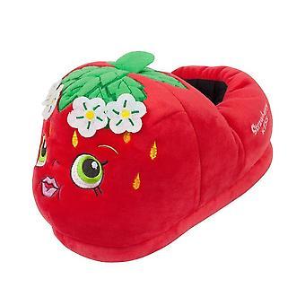 Novelty Strawberry Kids Girls 3D Character Slip-on Slippers