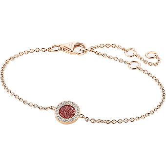 Zeades Sbc01067 bracelet - Bracelet Rose Gold Leather Crystal woman