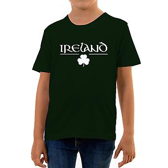 Reality glitch ireland clover kids t-shirt