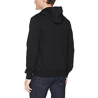 Starter Men's Zip-Up Logo Hoodie,  Exclusive, Black with White, XXX-Large