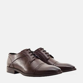 Raymond brown leather derby brogue