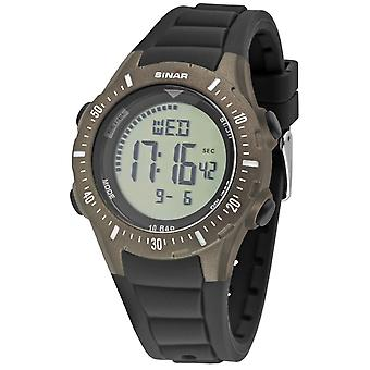 SINAR Youth Watch Wristwatch Digital Quartz Unisex Silicone Strap XR-12-5 Noir/Olive