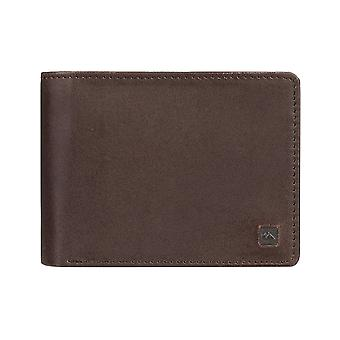 Quiksilver Mack X Leather Wallet in Chocolate Brown