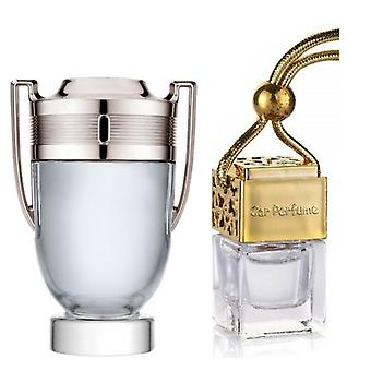 Paco Rabanne Invictus For Him Inspired Fragrance 8ml Gold Lid Bottle Hanging Car Vehicle Auto Air Freshener