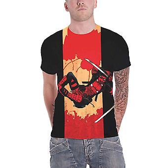 Deadpool T shirt Deadpool Samurai logo nye officielle Marvel Herre sort