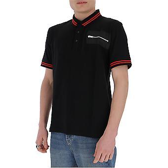 Les Hommes Lit501730n9000 Men's Black Cotton Polo Shirt