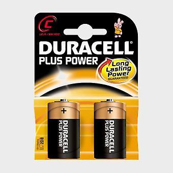 New Duracell Plus Power MN1400 C Batteries 2 Pack Black