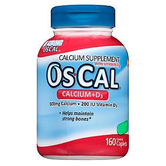 Os-cal calcium + d3 supplement, caplets, 160 ea