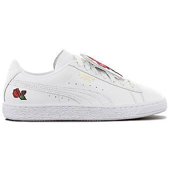 Puma Basket Badge Vertere - Damen Schuhe Weiß 370192-01 Sneakers Sportschuhe