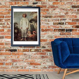 Jean Antoine Watteau - Pierrot dit autrefois Gilles Poster Print Giclée