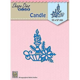 Nellie's Choice Shape Die Christmas candle SDB067 55x57mm