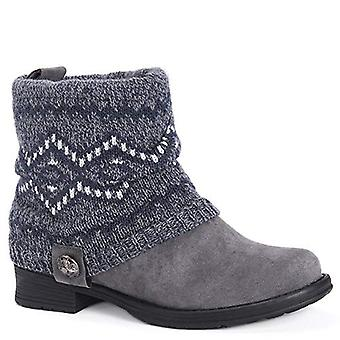 "MUK LUKS Women's Patrice Boots, Charcoal, 7"""