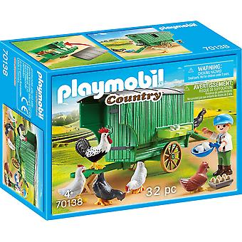 Playmobil 70138 Country Chicken Coop 32PC Playset