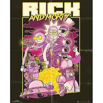 Rick ja Morty Action Movie Mini Juliste