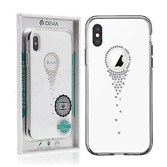 iPhone XS Max - DEVIA Angel Tears Series TPU Skal - Vit