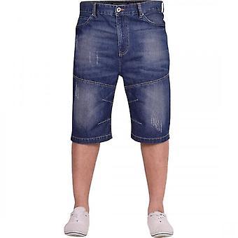 Crosshatch Mens Cotton Denim Jean Short Knee Length Spring Summer Shorts