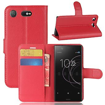 Case For Sony Xperia Xz1 Compact Red Card Holder