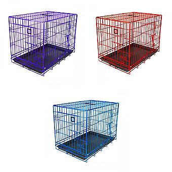 James & Steel Double Door Dog Crate