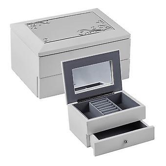 Orton West-Schmuck-Box - weiß/Silber
