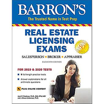Barron's Real Estate Licensing Exams with Online Digital Flashcards b