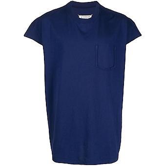Maison Margiela Ezcr029004 Men's Blue Cotton T-shirt