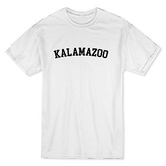 カラマズー市を示す誇りメンズ ホワイト t シャツ