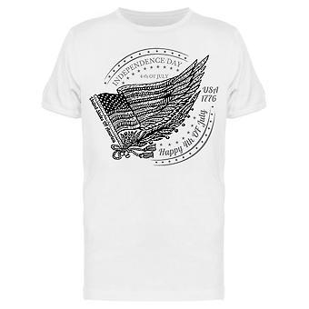 Independence Day W / Usa Flag Tee Men & apos; s -Bild av Shutterstock Men & apos; s T-shirt