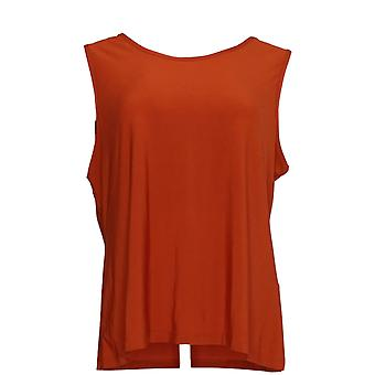 Serengeti Women's Sleeveless Scoop Neck Top Rust Brown