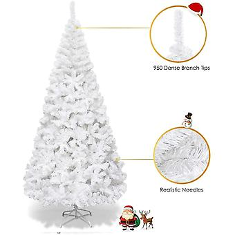 Christmas Tree Hausen Traditional White Artificial Xmas Trees Decor Indoor 2.1M