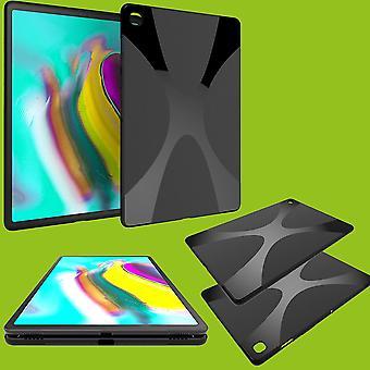 Защитный чехл Силиконовой X-Line серии Черный корпус для Samsung Галактика Tab S6 Lite P610 P615