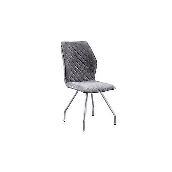 Sharon Grey Color Chair,Chromium in Fabric, Metal 55x44x63 cm