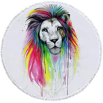 Upea värikäs leijona ranta pyyhe