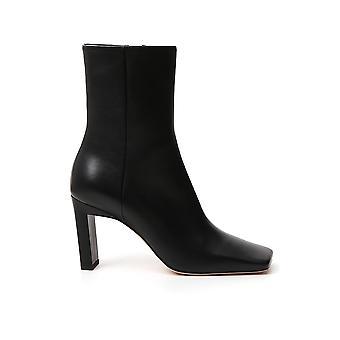 Wandler Isabootlamboskinblack Women-apos;s Black Leather Ankle Boots