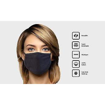 Reusable Multilayer Cotton Mask - 3 Pack