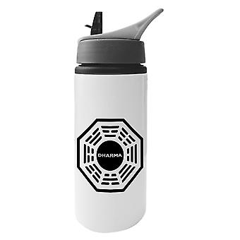 Dharma Initiative Logo Lost Aluminium Water Bottle With Straw