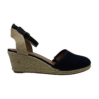 Style & Co. Mailena Wedge Espadrille Sandals 10 Navy