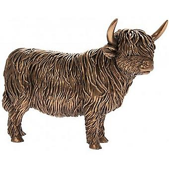 Reflections Bronzed Highland Cow Figurine