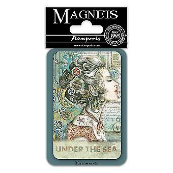 Stamperia Lady 8x5.5cm Magnet