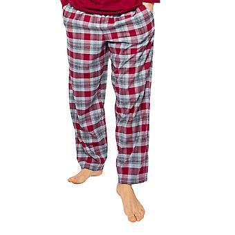Cyberjammies Liam 6514 Männer's Burgund Mix Check Pyjama Hose