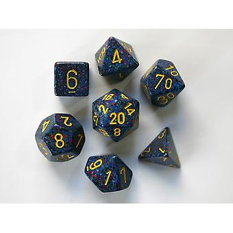 Chessex Speckled Polydice Set of 7 Dice - Twilight