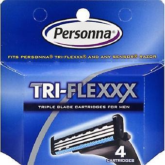 Tri-Flexxx Razor System für Männer Kartuschen nachfüllen - 4 Patronen