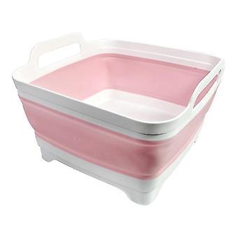 Vandtæt Folding Square Frugt Vegetabilsk vask håndvask - Folding Sink Drain Basket Travel Udendørs Camp Bærbare bassiner