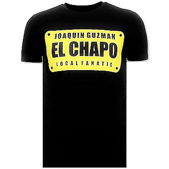 T-shirt - Joaquin Guzman El Chapo - Nero